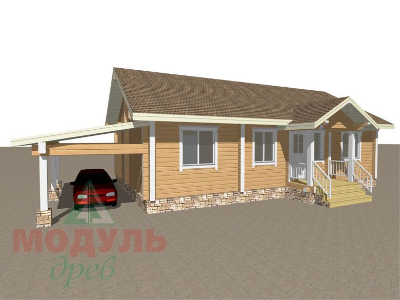 Проект дома из бруса «Мечта-1» - Макет 1