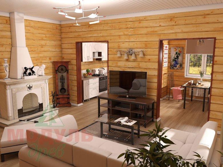 Дом из бруса «Мечта-1» - Гостиная