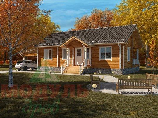 Проект дома из бруса «Мечта-1»