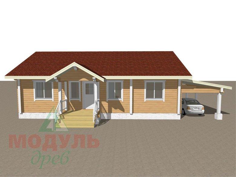 Дом из бруса «Мечта-2» - макет 1
