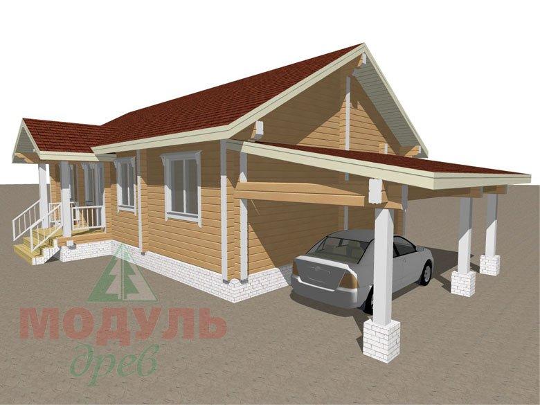 Дом из бруса «Мечта-2» - макет 2