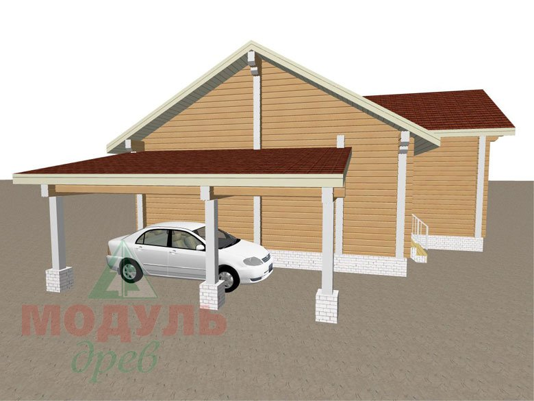 Дом из бруса «Мечта-2» - макет 3