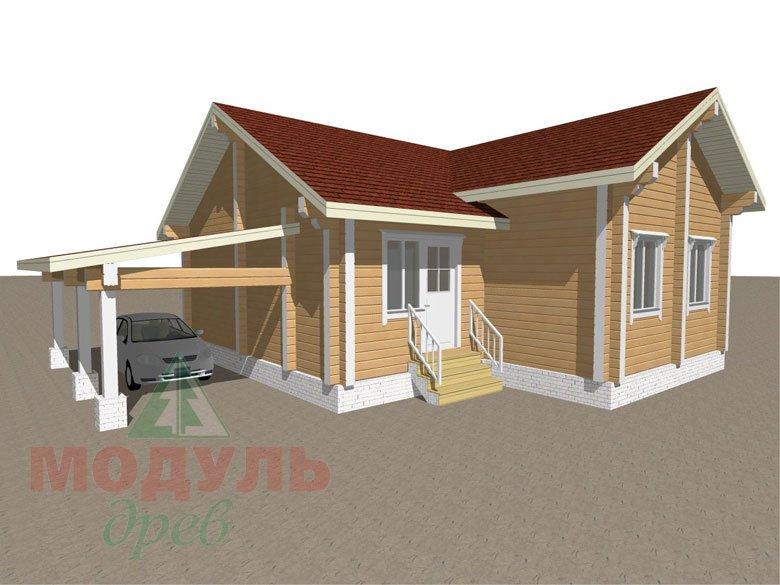 Дом из бруса «Мечта-2» - макет 4