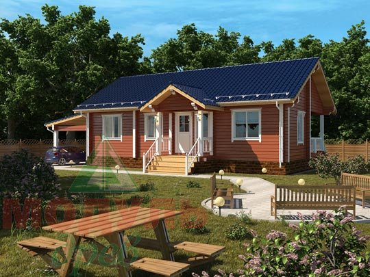 Проект брусового дома «Мечта-3»