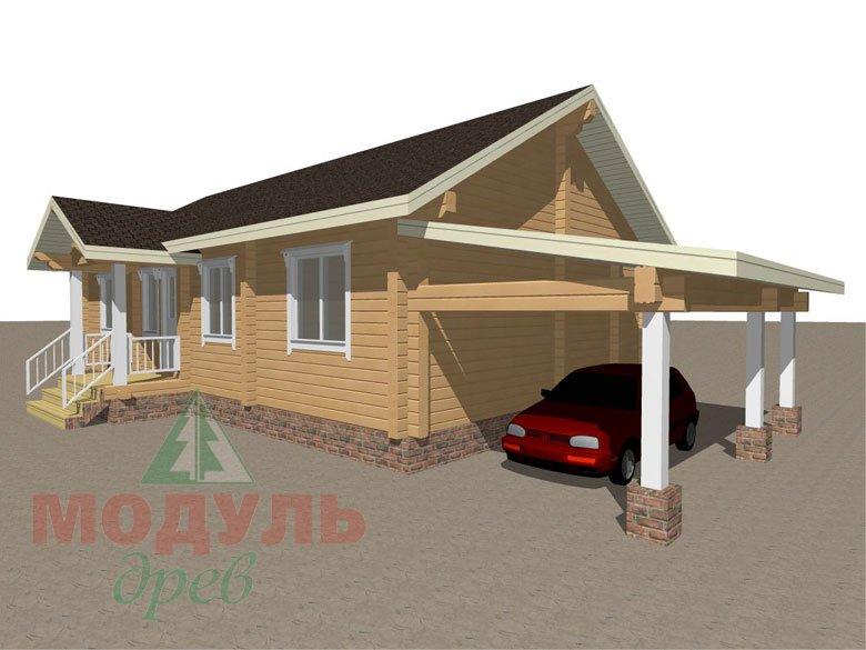 Брусовой дом «Мечта-3» - макет 3