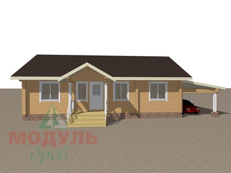 Брусовой дом «Мечта-3» - макет 1