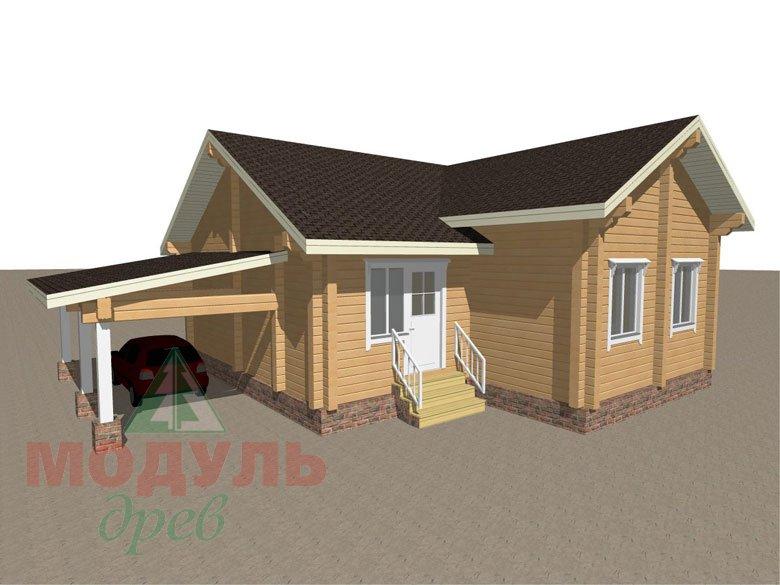 Брусовой дом «Мечта-3» - макет 4