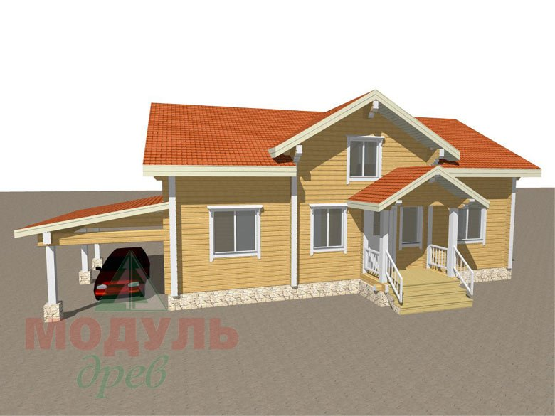 Проект дома из бруса «Мечта-4» - макет