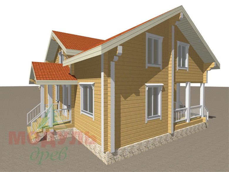 Проект дома из бруса «Мечта-4» - макет 2