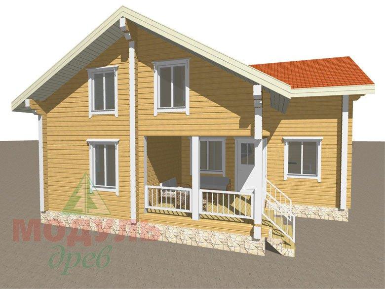 Проект дома из бруса «Мечта-4» - макет 3