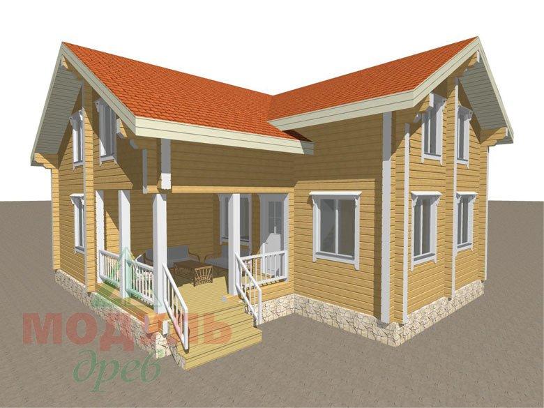 Проект дома из бруса «Мечта-4» - макет 4