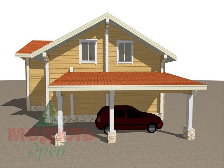 Проект дома из бруса «Мечта-4» - макет 7