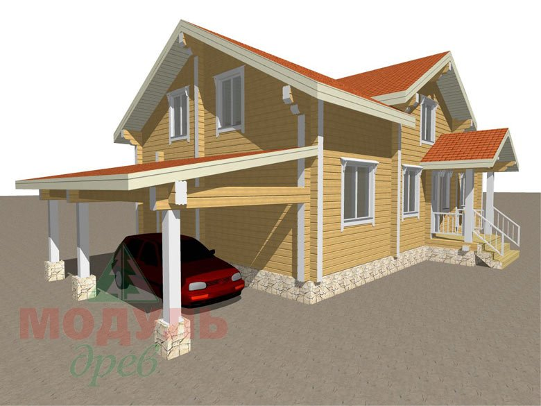 Проект дома из бруса «Мечта-4» - макет 8