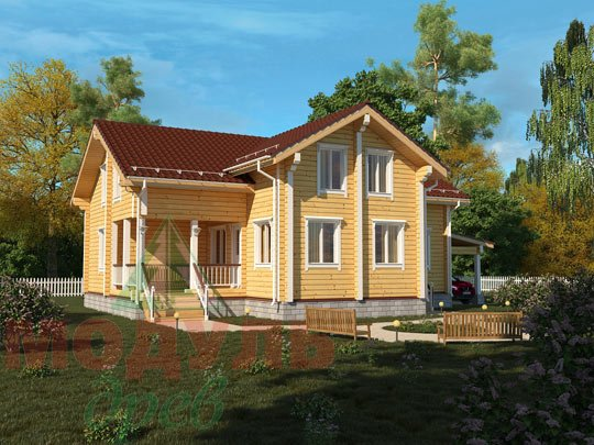 Проект дома из бруса «Мечта-4»
