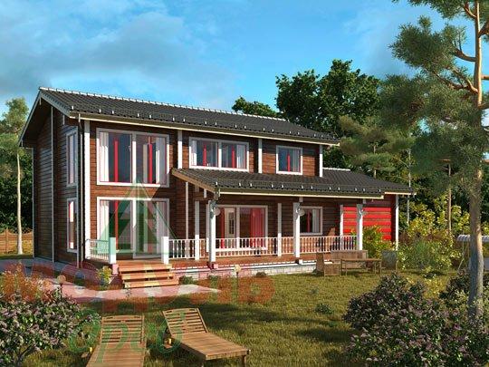 Проект дома из бруса «Мирный»