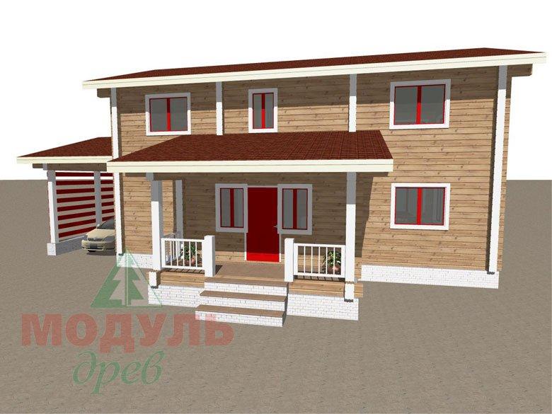Дом из бруса «Мирный» - макет 2