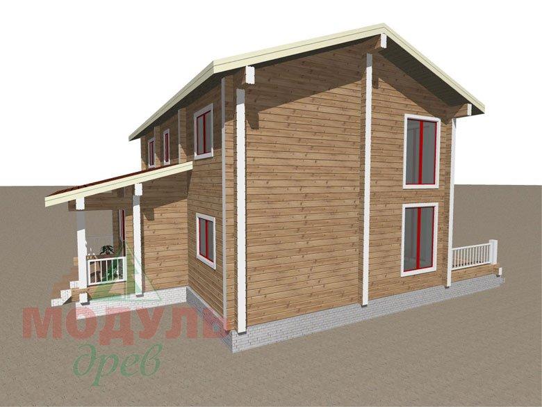 Дом из бруса «Мирный» - макет 3