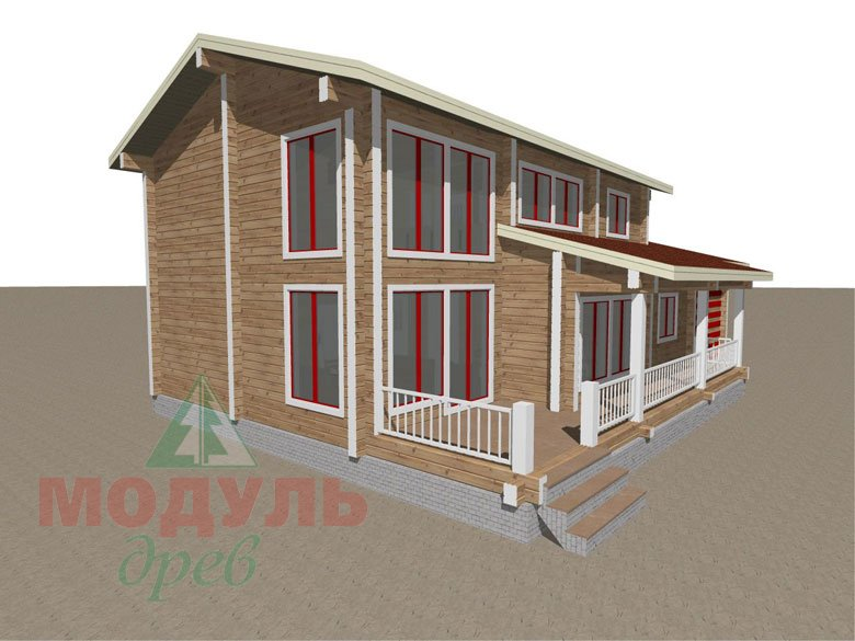 Дом из бруса «Мирный» - макет 4