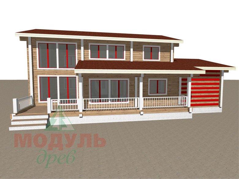Дом из бруса «Мирный» - макет 5