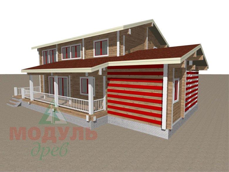 Дом из бруса «Мирный» - макет 6