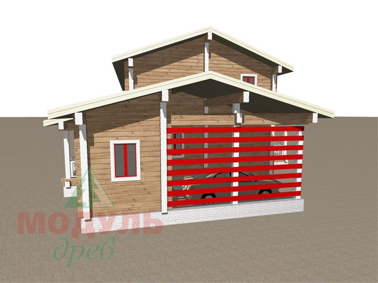 Дом из бруса «Мирный» - макет 7