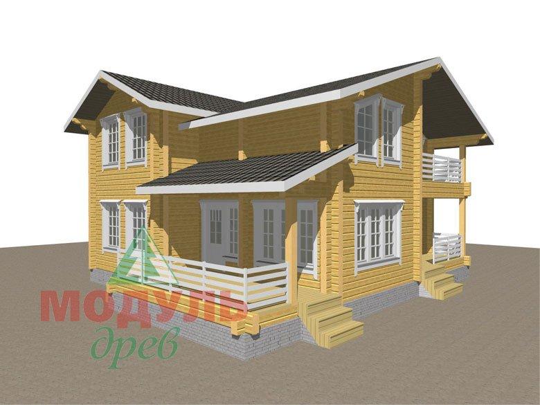 Двухэтажный дом из бруса «Муром» - макет 1
