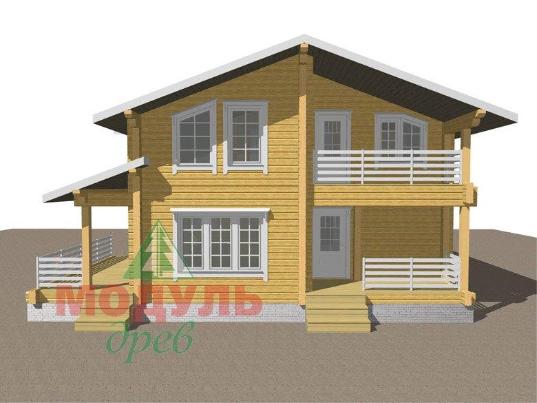 Двухэтажный дом из бруса «Муром» - макет 2