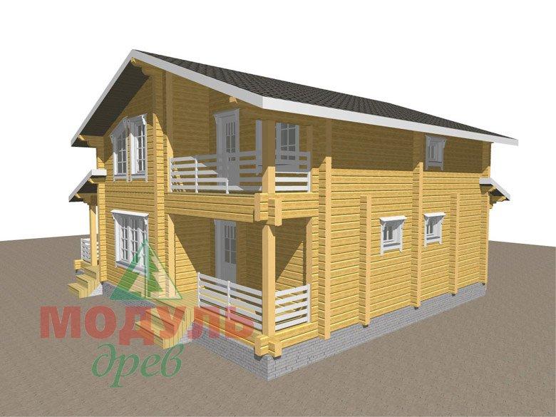Двухэтажный дом из бруса «Муром» - макет 3
