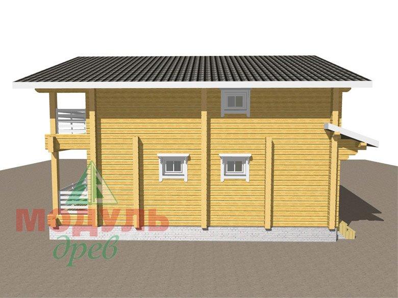 Двухэтажный дом из бруса «Муром» - макет 4