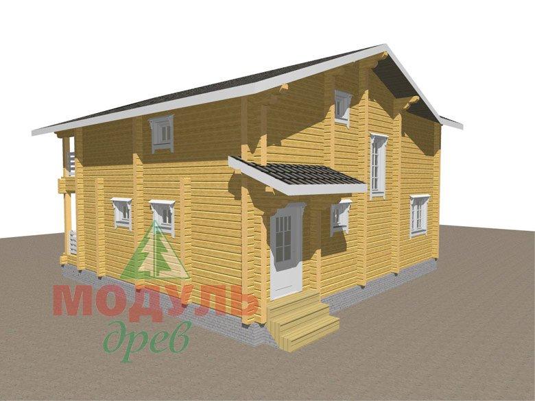 Двухэтажный дом из бруса «Муром» - макет 5