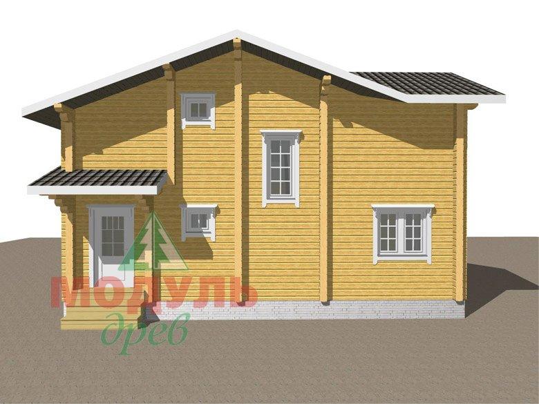 Двухэтажный дом из бруса «Муром» - макет 6