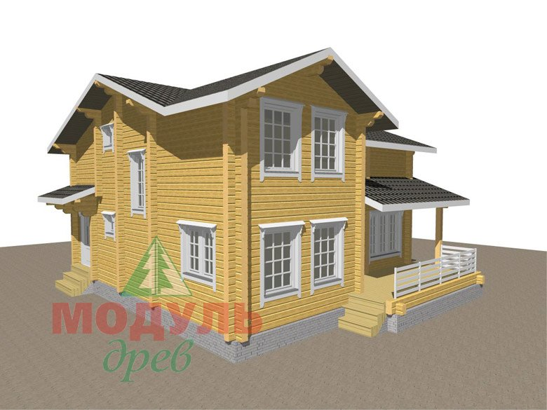 Двухэтажный дом из бруса «Муром» - макет 7