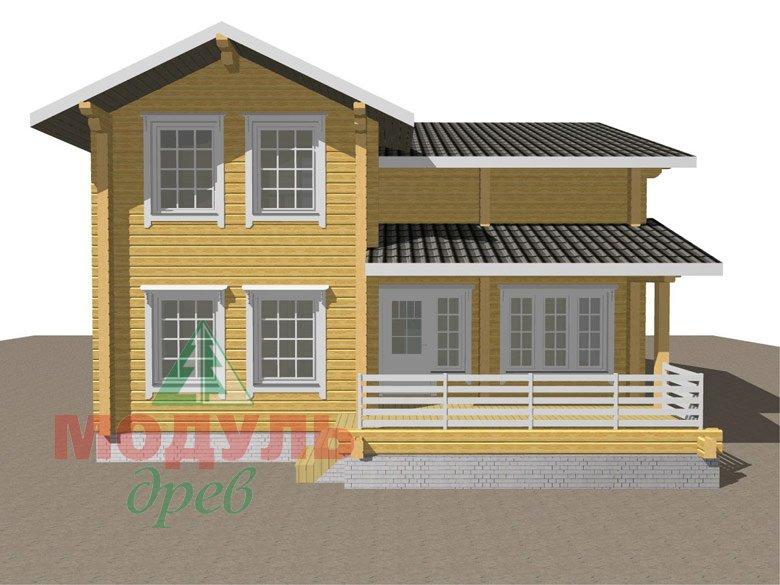 Двухэтажный дом из бруса «Муром» - макет 8