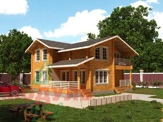 Двухэтажный дом из бруса «Муром»