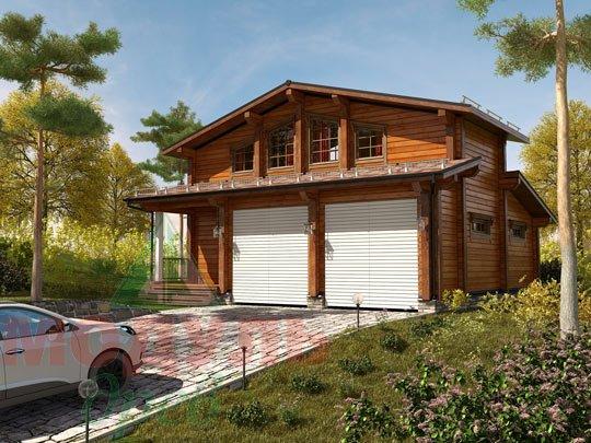 Проект дома из бруса «Неман»