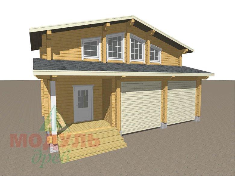 Проект дома из бруса «Неман» макет 1