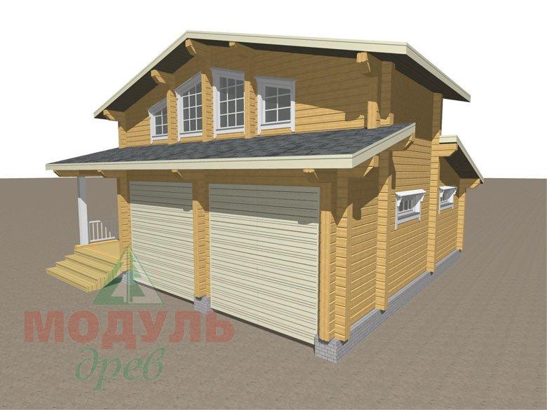 Дом из бруса «Неман» макет 2