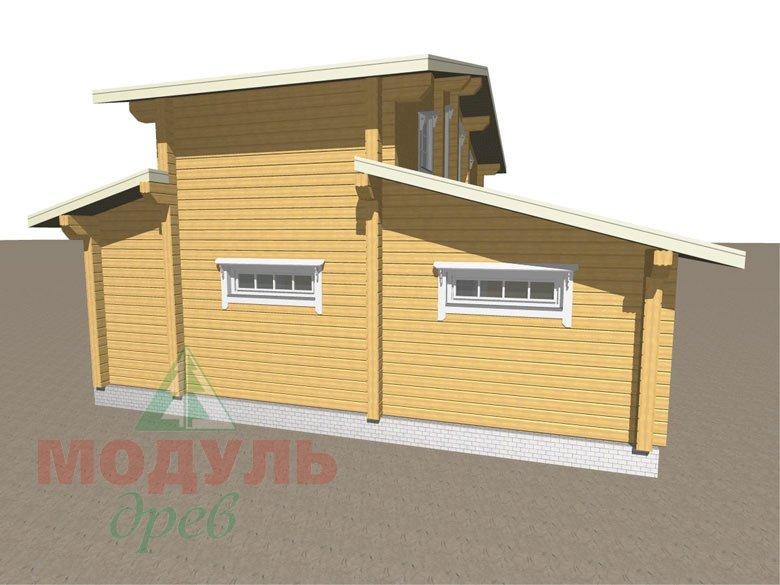 Дом из бруса «Неман» макет 3