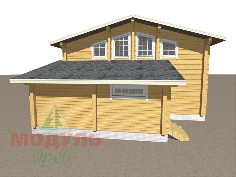 Дом из бруса «Неман» макет 4