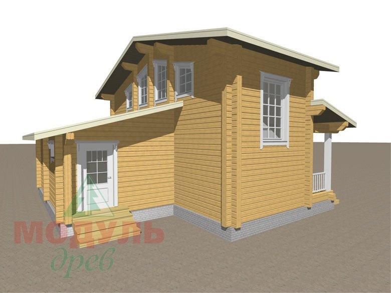 Дом из бруса «Неман» макет 5