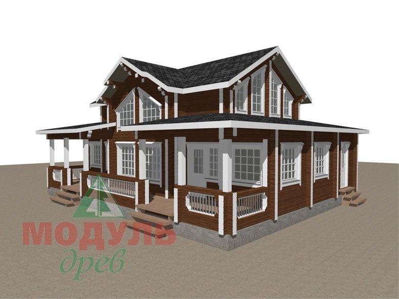 Загородный деревянный дом из бруса «Никольский» - макет 1