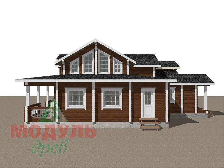 Загородный дом из бруса «Никольский» - макет 2