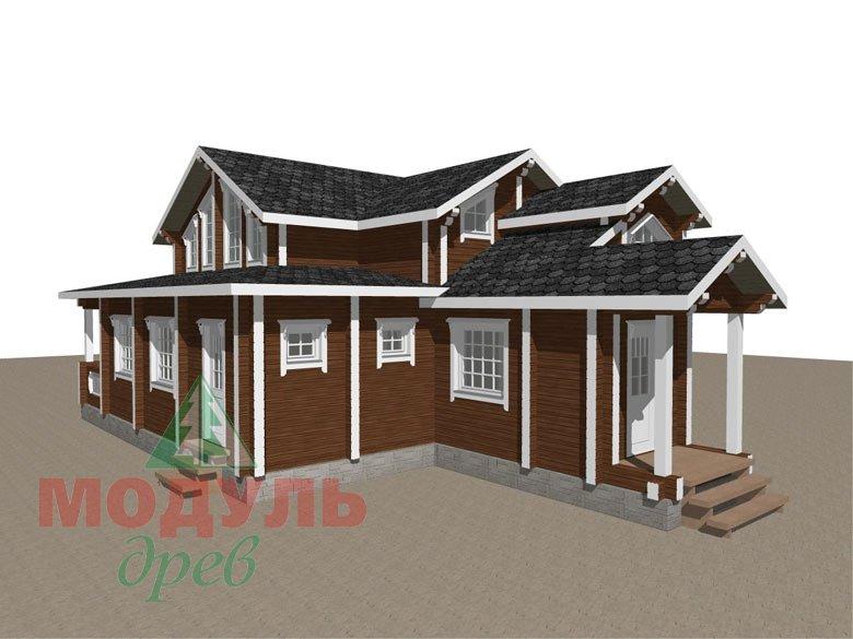 Загородный дом из бруса «Никольский» - макет 3