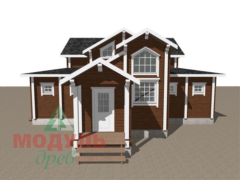 Загородный дом из бруса «Никольский» - макет 4