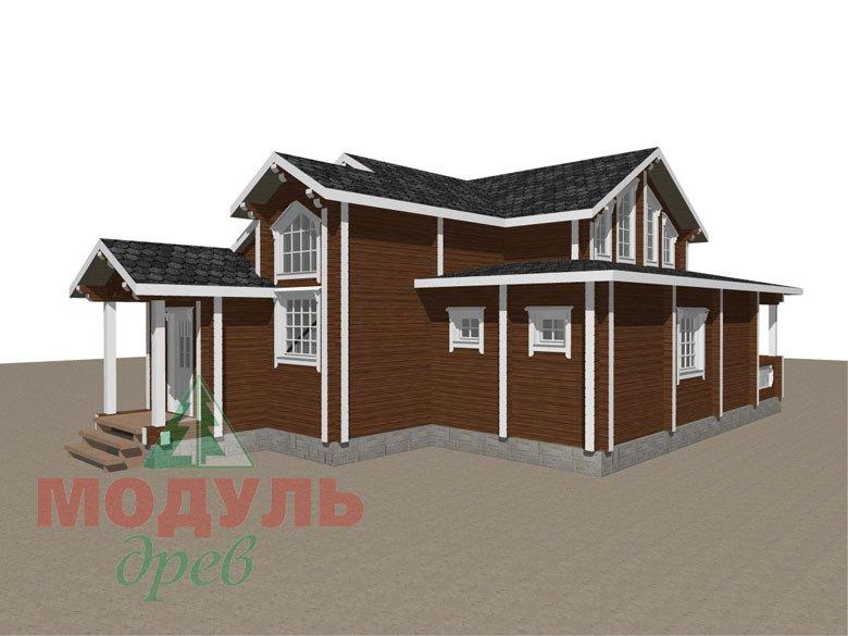 Загородный дом из бруса «Никольский» - макет 5