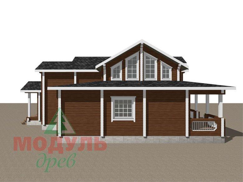 Загородный дом из бруса «Никольский» - макет 6