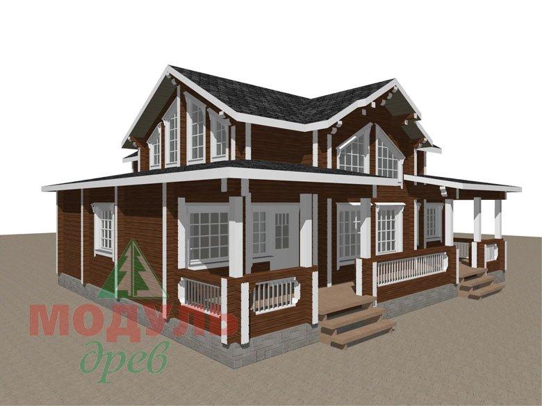 Загородный дом из бруса «Никольский» - макет 7