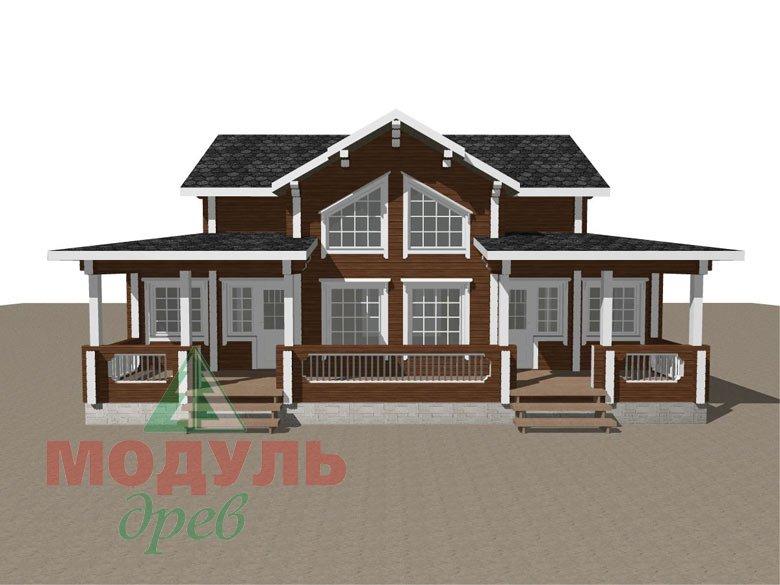 Загородный дом из бруса «Никольский» - макет 8