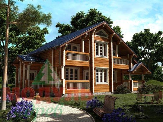 Проект дома из бруса «Новороссийск»
