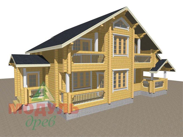 Проект дома из бруса «Новороссийск» - макет 1